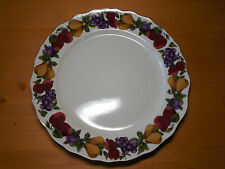 "Home AGE OF ELEGANCE Set of 4 Dinner Plates 11"" 2004 Fruit on Rim Scalloped A"
