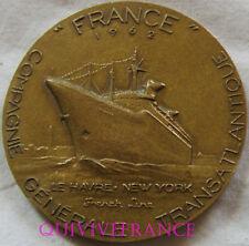 MED6404 - MEDAILLE PAQUEBOT FRANCE CGT FRENCH LINE 1962 par COEFFIN