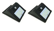 2 X Lampada Solare Da Esterno Giardino Faretto Fotovoltaico Sensore Luce 12 LED
