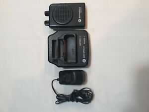 Motorola Minitor V Pager With Charger And Charger Base