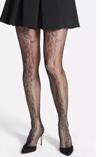 Oroblu Collant Jill Floral Pattern Fishnet Tights Black Women Sz L / XL 3023