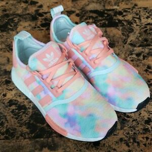 New Adidas NMD R1 Tie Dye Women's Running Shoes FY1271 - Size 7