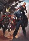 Jimmy Cheung SIGNED Avengers Marvel Art Print ~ Hulk Thor Captain America