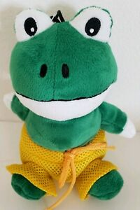 Grriggles Bathing Beauties Plush Squeaker Dog Toy, Frog