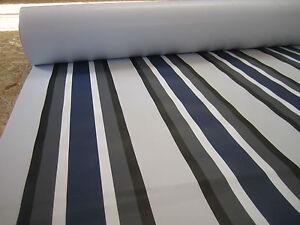 Zeltplane Vorzeltplane Blau gestreift 660 g/m² Breite 162 cm  Blau