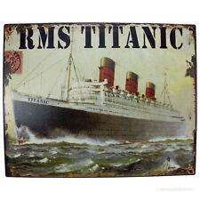 Nostalgie Metallschild Schiff RMS Titanic Blechschild zum Aufhängen Wandschild