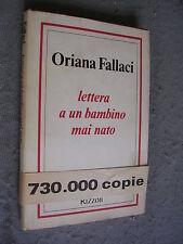 ORIANA FALLACI - LETTERA A UN BAMBINO MAI NATO - 1980- RIZZOLI -MT20