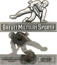 Brevet Militaire Sportif, échelon argent, FAMAS, A.Bertrand GS 127,attache PIN'S