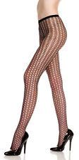 Black Honeycomb Design Pantyhose Nylon Spandex Tights One Size Music Legs 9040
