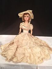 Antique 1920's French Type BOUDIOR Bed Doll Composition & Cloth~ Dress Excellent