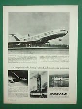 5/1963 PUB BOEING 727 JET AIRLINER  X-20 DYNA-SOAR SATURN V PUMP JET FRENCH AD