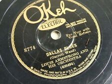 Louis Armstrong 78 Jazz Record Okeh 8774 Dallas Blues / Bessie Couldn't Help it