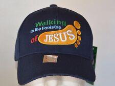 WALKING IN THE FOOTSTEP OF JESUS, BASEBALL NAVY CAP NEW
