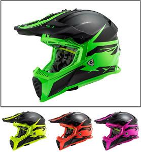 LS2 MX437 Fast Evo Roar Motocross Helmet Off Road Quad Green Yellow Red Purple