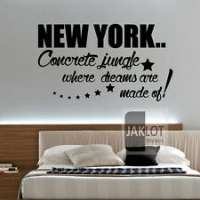 NEW YORK DREAMS MADE OF- Vinyl Wall Art Sticker, Transfer, Decal