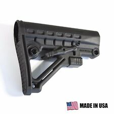 302 Skeleton A-Frame Adjustable Collapsible Stock Mil-Spec - Black - Made in USA
