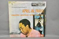 CHARLIE PARKER April In Paris LP VERVE MG V-8004 black label mono Ex