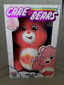 """NEW 2020 Care Bears - 14"""" Medium Plush - Love A Lot Bear Soft Huggable W/  Coin"""