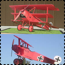 1:33 Scale WWI Fokker Dr.I Triplane Fighter Aircraft Handcraft Paper Model Kit
