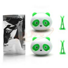 1 Pair Green Cute Panda Car Perfume Air Freshener Auto Decoration Accessories