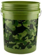 5 Gallons Camouflage Multipurpose Plastic Pail Bucket Bin Foam Handle New Camo