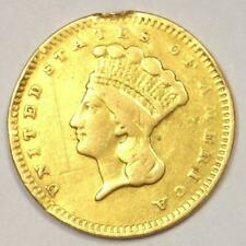 1859-S Indian Dollar Gold Coin (G$1) - VF Details - Rare Date Coin!