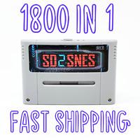 1800 in 1 SD2SNES Rev X Super Nintendo SNES FLASH CARTRIDGE 16GB - RETRO GAMER