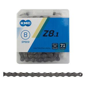 KMC Z8.1 Chain - 6, 7, 8-Speed, 116 Links, Gray