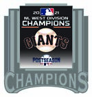 2021 SAN FRANCISCO GIANTS NATIONAL LEAGUE PIN WEST DIVISION CHAMPS WORLD SERIES