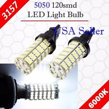 4X 3157 3156 Xenon 6000K White 120-SMD Chip LED DRL Daytime Running Light Bulbs