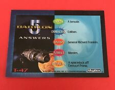 1997 Babylon 5 Special Edition Trivia Chase Insert #T-47 Card NM/MT