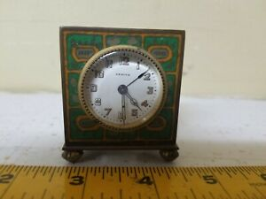 Antique ZENITH Swiss Table Traveling Alarm Desk Clock #12574
