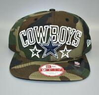 Dallas Cowboys New Era 9FIFTY NFL Camo Army Fatigues Snapback Cap Hat