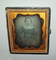 Antique vtg 1860's DAGUERREOTYPE stunning woman photograph 1/6 Plate photo dag