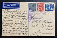 1937 Haarlem Netherlands PS Postcard Cover To Semarang Dutch East Indies