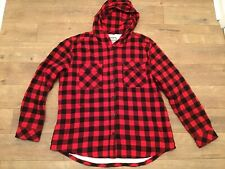 Boston Traders Size XXL Womens Sherpa Red Black Plaid Flannel Hooded Coat Jacket