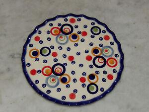 Polish Pottery Trivet! UNIKAT Happy Happy Pattern!