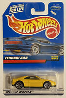 1998 Hotwheels Ferrari 348 Yellow! Very Rare! Mint! MOC!
