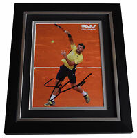 Stanislas Wawrinka SIGNED 10X8 FRAMED Photo Autograph Tennis Display AFTAL & COA