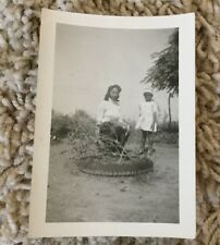 VintageAfrican American Photograph Young Woman and Girl Outside