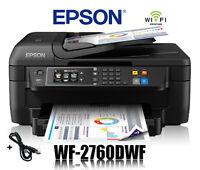 EPSON WorkForce WF-2760DWF 4-in-1 MULTIFUNKTIONS DRUCKER WIFI WLAN * NEU *