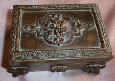 Coffret boîte à bijoux en bois sculpté - manque serrure
