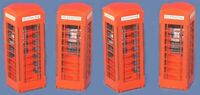 1:32 Scale 4 x Red Telephone Boxes Kit for Scalextric/Other Static Layouts