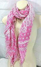 AEROPOSTALE wms/jrs pink/white print scarf One Size NWT