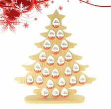 Wooden MDF Christmas Advent Calendar Tree fits Kinder Egg Chocolate - CTO604