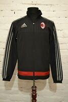 AC MILAN FOOTBALL TRAINING JACKET 2015/2016 SOCCER MENS XS ADIDAS PRES TRACKSUIT