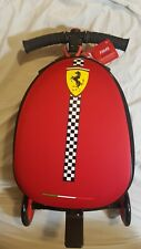 Ferrari Trolley Travel Carry onboard Bag Kids Scooter Luggage Rolling Suitcase