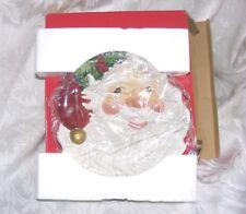 Nib Fitz & Floyd Santa Plate, Ceramic Santa Face CanapeDish Appetizer Plate 7x9