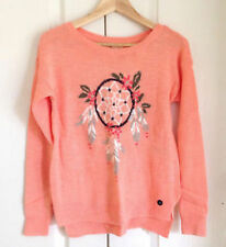 HOLLISTER WOMEN'S long sleeved SWEATER top jumper size 8 10 M Dreamcatcher