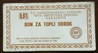 BOSNIA Sarajevo Local Money Food Bon - Coupon  UPI